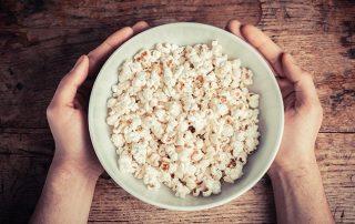 Is popcorn een gezond tussendoortje