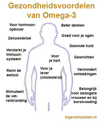 Gezondheidsvoordelen van omega 3